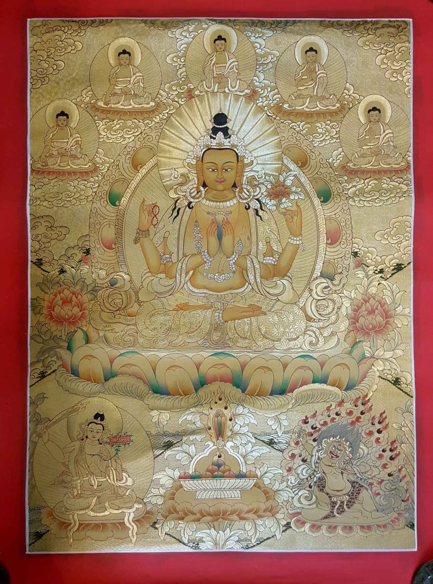 Avalokiteshvara Thangka Painting
